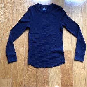 Gap Long-Sleeve Waffle-knit Crewneck Henley